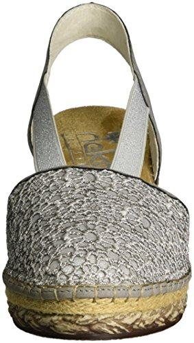 Staub Sandales 69950 silber Rieker Ouvert Femme Bout Gris 42 Staub 58qwxP