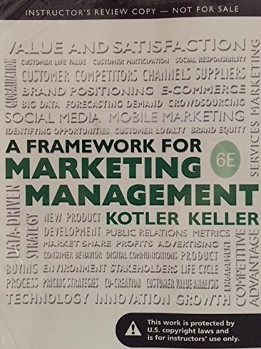 A Framework for Marketing Management 6th ed.