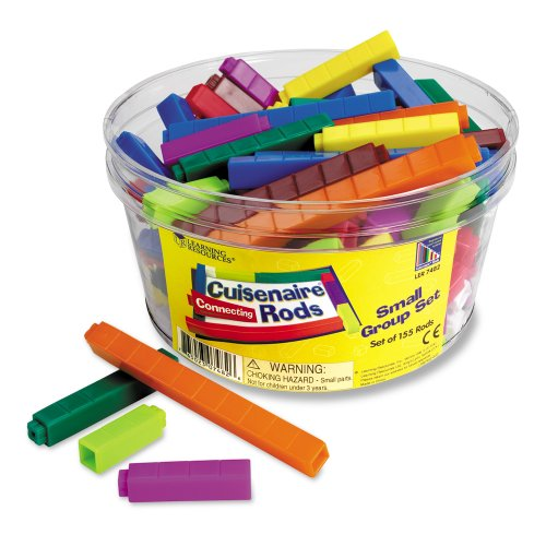 Connecting Cuisenaire Rods - Learning Resources Connecting Cuisenaire Rods Small Group Set