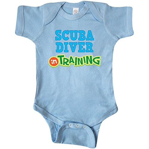 inktastic - Scuba Diver in Training Infant Creeper Newborn Baby Blue 19661