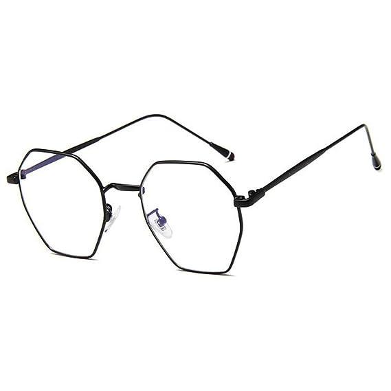 a4821096bad5a4 Meijunter Mode MÃtal IrrÃgulier Lentille Claire Lunettes Cadre Vintage  Optiques Lunettes Pour Femme Homme