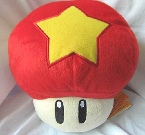Anime Super Mario Bros Star Mushroom Plush Doll - Mushroom Plush Doll