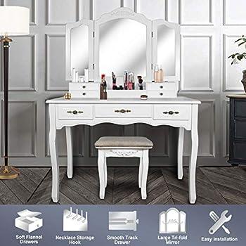 Stupendous Amazon Com Bobkona Pdex Croix Collection Vanity Set With Spiritservingveterans Wood Chair Design Ideas Spiritservingveteransorg