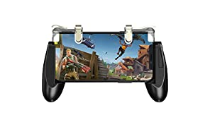 GameSir F2 Mobile Game Controller,Sentivie Shoot and Aim Fir Buttons L1R1 Trigger, Mobile Grip Jostick Set for PUBG/Knives Out/Rules of Servival (Black + Clear)