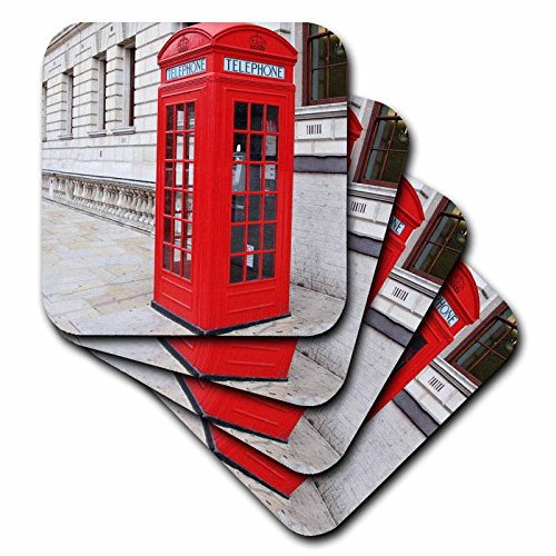 cst_56177_1 London's Famous Red Phone Booths-Soft Coaster...