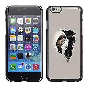 EJOY---Cubierta de la caja de protección la piel dura para el / iPhone 6 / --Mujer & Wolf