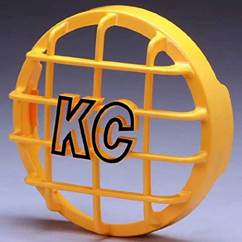 KC HiLites KCH-7213 Stone Guard Yellow High Impact ABS Plastic 6 in. Round - Each - Kc Hilites Stone Guard