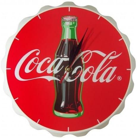 Coca Cola - Reloj de pared, diseño de tapón de botella: Amazon.es: Hogar