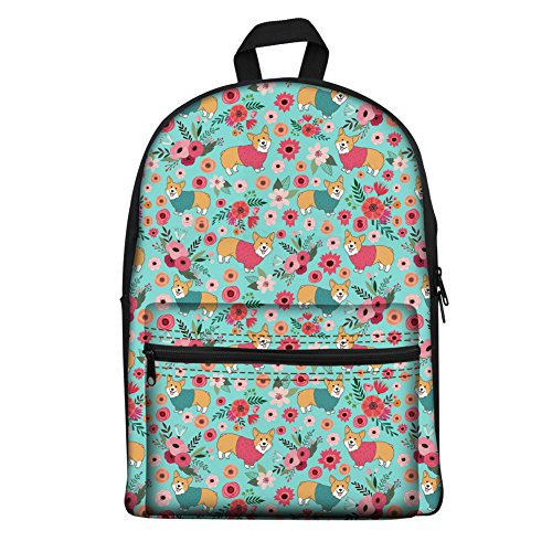 Abstract K Multicolore Cartable Flower Coloranimal H8570J Pup Corgi qw7Rw5aI