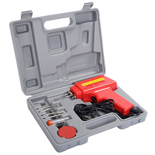 100w Soldering Gun (Goplus 5PC 100W Soldering Gun Kit Iron Solder Professional Style Sodering w/ Case New)