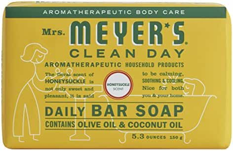 Mrs. Meyer's Daily bar soap, Honeysuckle, 5.3 oz