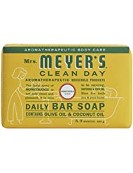 Mrs. Meyer's Clean Day Daily Bar Soap, Honeysuckle,...