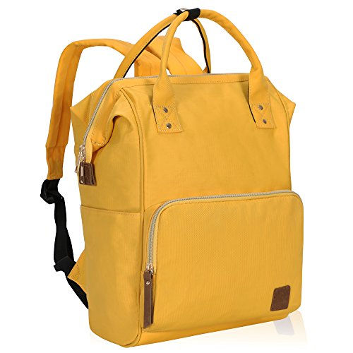 Veegul Wide Open Multipurpose School Backpack Lightweight Travel Bag 18L Calendula Yellow