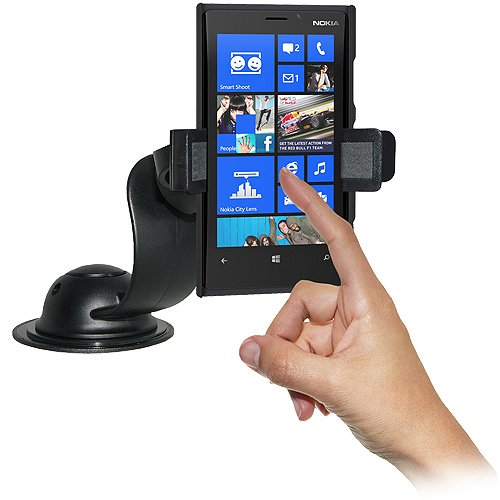 Black Amzer AMZ95448 Car Mount and Case System for Nokia Lumia 920 Retail Packaging