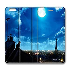 Brian114 6 Case, iPhone 6 Case - Slim Fit Leather Cover for iPhone 6 Late Night Paris Shock Absorbent Leather Cases for iPhone 6 4.7 inch