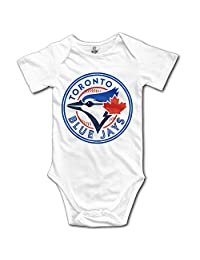 Toronto Blue Jays White BABY Funny Short Sleeves Variety Baby Onesies Romper For Little Baby Size 12 Months