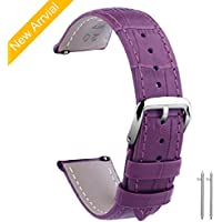 Vetoo Leather Watch Bands, Quick Release Classic Genuine Leather Replacement Watch Strap Wristband for Men and Women 16mm/18mm/20mm/22mm/24mm (Multi Colors)
