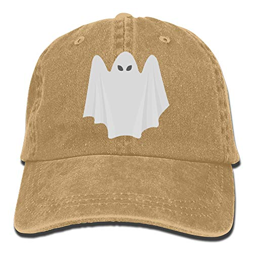 Ghost Halloween Cowboys - ArtsLifes Halloween Ghost Adjustable Casual Cool Baseball Cap Retro Cowboy Hat Cotton Dyed Caps