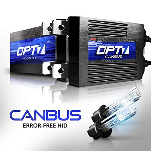 OPT7 Boltzen AC CANbus H1 High Beam HID Kit - 5X Brighter - 6X Longer Life - All Bulb Colors and Sizes - 2 Yr Warranty [8000K Ice Blue] Xenon Light