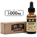 Hemp Oil 1000mg :: Hemp Oil for Pain :: Stress Relief, Mood Support, Healthy Sleep Patterns, Skin Care (1000mg, 33.3mg per Serving x 30 Servings) : R+R Medicinals Review