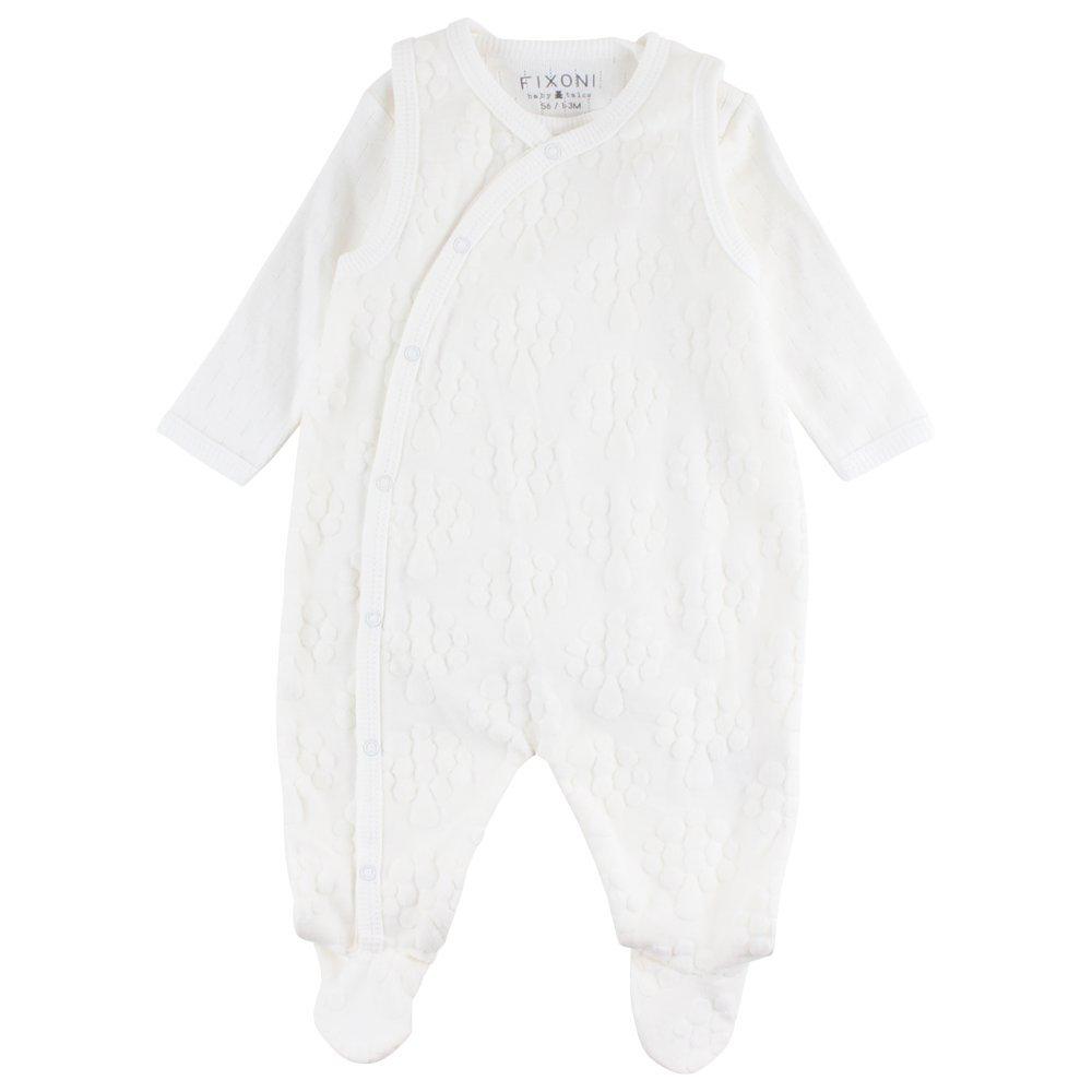 Fixoni Unisex Baby Strampler Grow Suitset 72% Baumwolle 28% Polyester Grö ß e: 56 Farbe: Elfenbein 33113