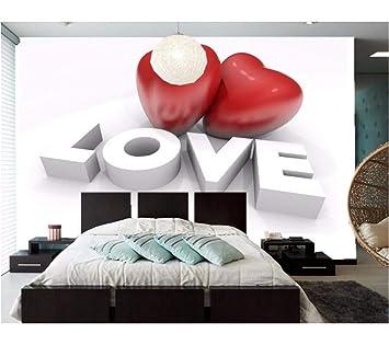 Weaeo Día De San Valentín Personalizado Corazón 3D En Relieve ...