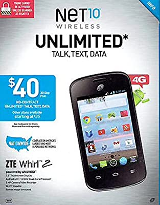 ZTE Whirl 2 Android Cell Phone - No Contract (Net 10)
