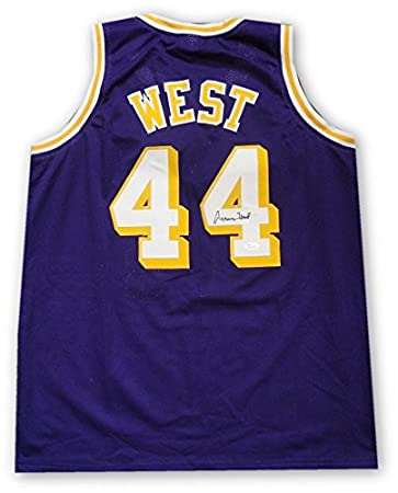 Jerry West Hand Signed Autographed  44 Purple Jersey Los Angeles Lakers JSA d62774291