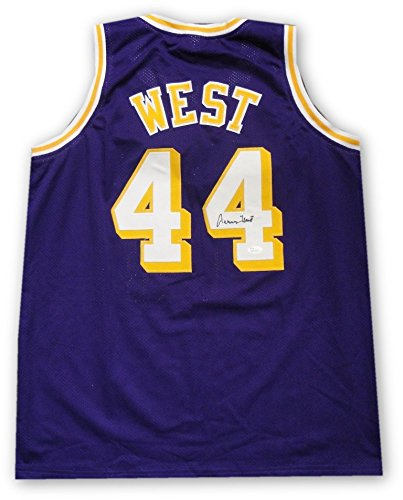 size 40 47b01 377dc Jerry West Hand Signed Autographed #44 Purple Jersey Los ...
