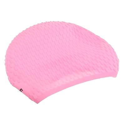 Sharplace Bonnet de Bain pour Cheveux long Bonnet de Natation Silicone Adulte Unisexe