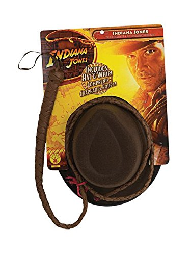 Adult Indiana Jones Hat and Whip Set -
