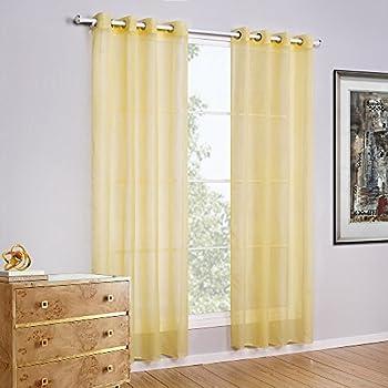 Amazon Com Bebling Grommet Semi Sheer Curtains 2 Pieces