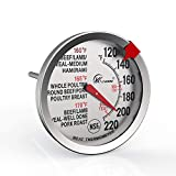 KT THERMO Meat Thermometer 2.5-Inch Dial Stainless Steel...