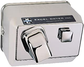 product image for Excel Dryer 76-C Cast Cover Series Hands On Push Button Surface Mounted Hand Dryer - Chrome Plated