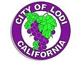 Round LODI City Seal Sticker (
