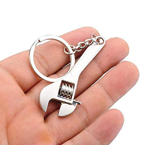 iJDMTOY 1 Chrome Finish The Lucky Four Leaf Clover Cloverleaf Key Chain Ring Keychain