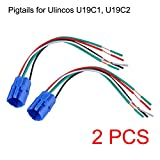 Ulincos 19mm Pigtail, Wire Connector, Socket Plug for U19C1, U19C2 Push Button Switch (Pack of 2)