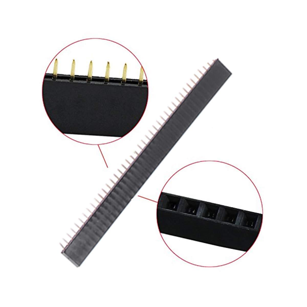 Hemobllo 20 unids 2.54mm de Una Sola Fila 40Pin 2.54mm Pin Pin Header Conector Escape PCB Placa para Arduino Shield