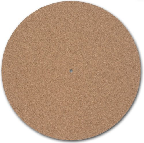 Cork Audiophile Turntable Mat Preventing Record Slippage