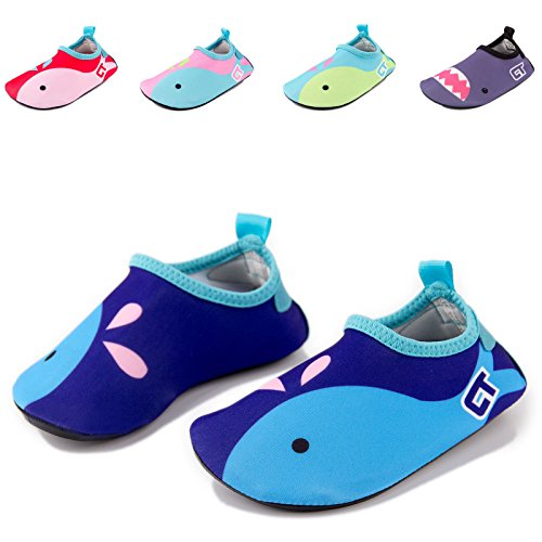 Dizoon Toddler Girls Lightweight Water Shoes Kids Skin Swim Shoes Quick Drying Barefoot Aqua Socks For Boys Pool Beach