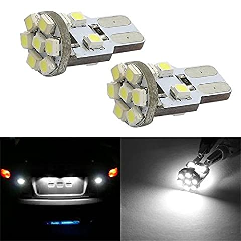 Partsam 2pcs T10 194 168 W5W Error Free 13-3528-SMD LED Bulbs for Car Trunk Rear License Plate Lights, - 1995 Honda Civic Trunk