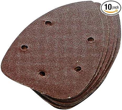 Triangle Sanding Hook /& Loop QTY 10-140mm 80 Grit Detail Sander Sheets