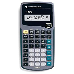 Calculator, Scientific; Texas Instruments; TI-30Xa; Shows 8 digits or 5 digits and 2-digit exponent