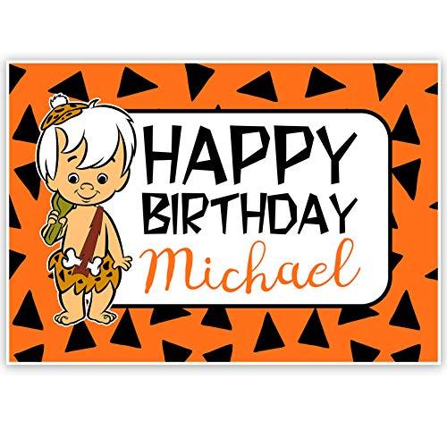 Flintstones Personalized Birthday Banner
