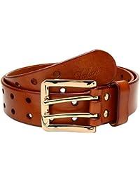 Men's 38mm Double Holes Genuine Leather Belt 9004
