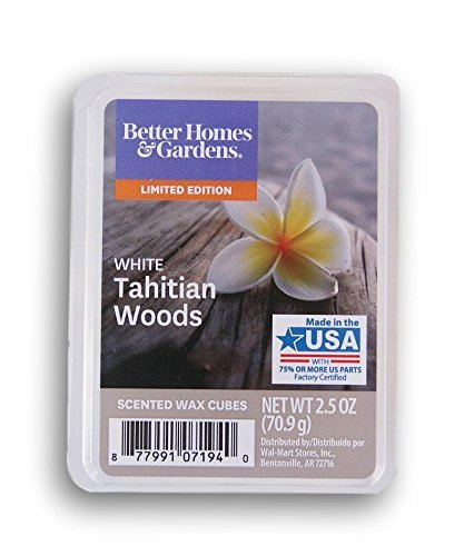 Price comparison product image Better Homes and Gardens 2018 Limited Edition White Tahitian Woods Wax Cubes