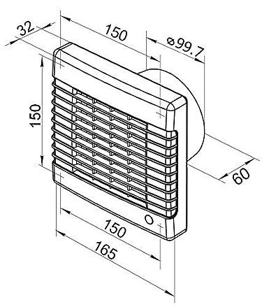 Abluftventilator mit Hygrostat und elektrischem Innenverschluss Made in Europe