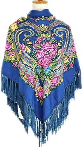 Women Heart Printed Tassel Scarve Shawls Russian Big Size Designer Bandana Warm Poncho Stole Scarf