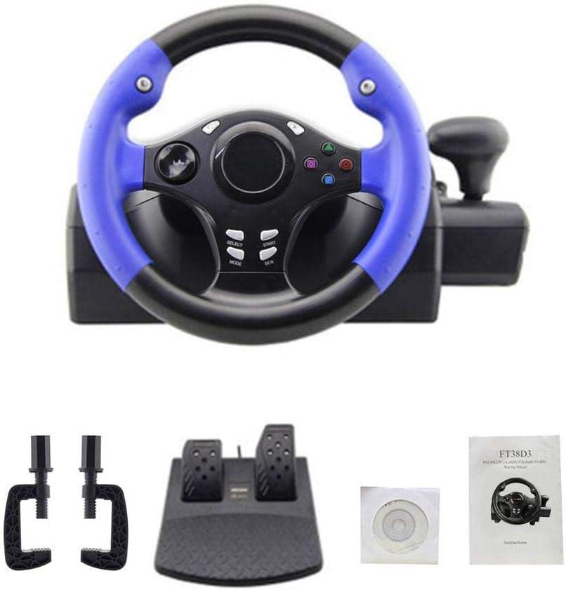 Bloomma 7 en 1 270 ° Dirección de Carreras PS4 / PS3 / PC/Xbox-One/XBOX-360 / Interruptor/Volante de Juegos Android, Control Manual automático/semiautomático