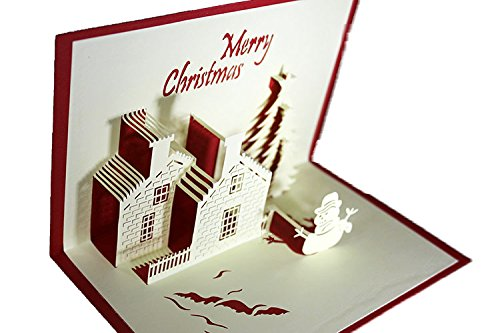 lovely-paper-card-3d-pop-up-folding-postcard-snowman-by-house